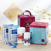 白蘭氏春節健康禮盒(深海魚油蝦紅素120錠/盒+黑醋栗葉黃素60錠/盒+木寡醣乳酸菌粉狀 高纖5入/盒*2)