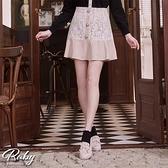 褲裙 蕾絲拼接魚尾後鬆緊褲裙-Ruby s 露比午茶