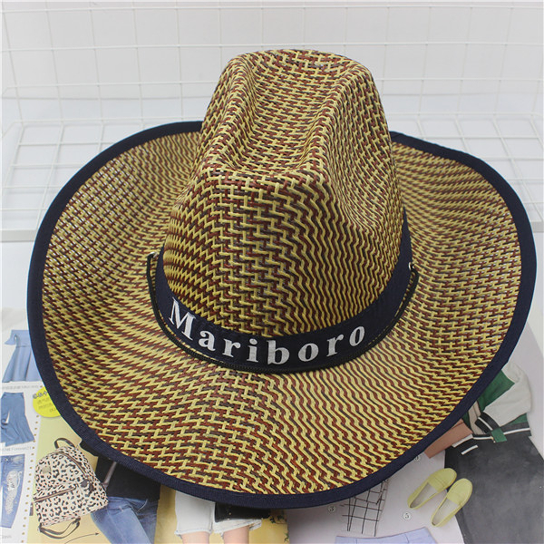 遮陽帽 騎車男士牛仔帽度假夏沙灘大沿帽子女太陽防曬帽子【限時八五折鉅惠】