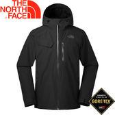 【The North Face 男款 GORE-TEX 可套接防水外套《黑》】2UB9JK3/防水外套/外套/防風外套★滿額送