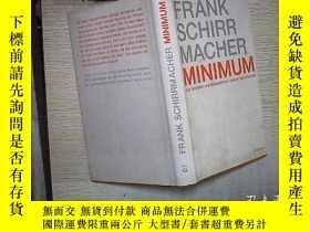 二手書博民逛書店FRANK罕見SCHIRR MACHER MINIMUM (01