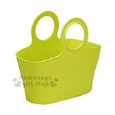 〔小禮堂〕inomata 日製置物籃《M.青綠.圓把》收納籃.購物籃 4905596-44801