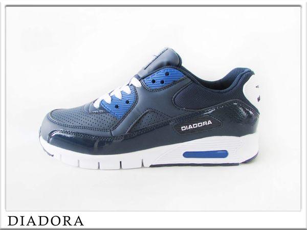 『雙惠鞋櫃』◆DIADORA迪亞多那 ◆ 男款素色運動慢跑鞋◆ (DA2876) 深藍