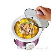 煲熬粥鍋煮粥神器小電燉鍋煲湯燉盅bb嬰兒陶瓷煮電紫砂鍋220Vigo 瑪麗蓮安