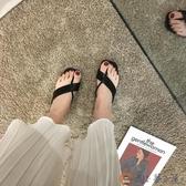 涼拖鞋女外穿粗跟中跟夾腳拖潮拖鞋夏季百搭【淘夢屋】