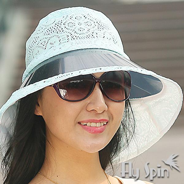 防曬帽子-女款大眉檐抗紫外線UV時尚蕾絲遮陽帽13SS-V061 FLY SPIN