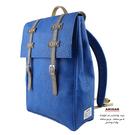 寶藍文青後背包   AMINAH~【am-0278】