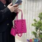 子母包 小眾包包火龍果側背小方包2021新款亞克力鍊條洋氣手提斜背子母包寶貝計畫 上新