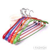 防滑干濕衣架 內芯金屬寬肩衣架 塑料衣架(10個裝)igo Ifashion