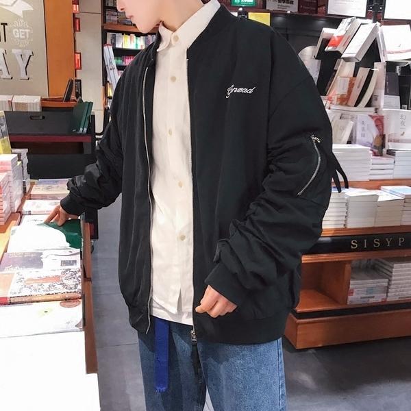 FINDSENSE H1 2018 春季 背後英文 印花  棒球服 寬松 夾克