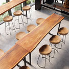 吧台桌實木組合原木實木酒吧台桌椅靠墻復古長條陽台高架休閒窄桌 樂活生活館