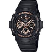 CASIO 卡西歐G-SHOCK 賽車運動手錶-玫瑰金x黑 AW-591GBX-1A4DR