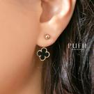 限量現貨◆PUFII-耳環 金框幸運草耳針耳環-0421 現+預 春【CP18377】