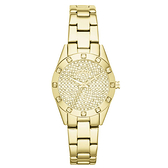DKNY 璀璨靈魂晶鑽時尚腕錶(鋼帶-金)