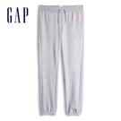 Gap女童 Logo棉質舒適鬆緊休閒褲 567753-石楠灰