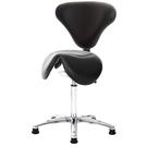 GXG 立體泡棉 小馬鞍加椅背 工作椅(寬鋁腳) 型號81T8 LU1