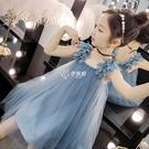 吊帶裙 女童夏裝洋裝新款兒童背心裙子夏季4-12歲小女孩吊帶公主裙