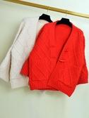 很仙的毛衣純色寬鬆開襟女外套春秋季2019新款加厚針織衫女裝上衣