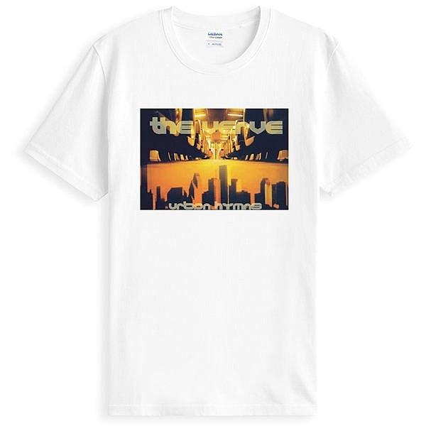 The Verve-Urban短袖T恤-白色 神韻 樂團 英國 英搖 圖案 搖滾 音樂 潮流 設計