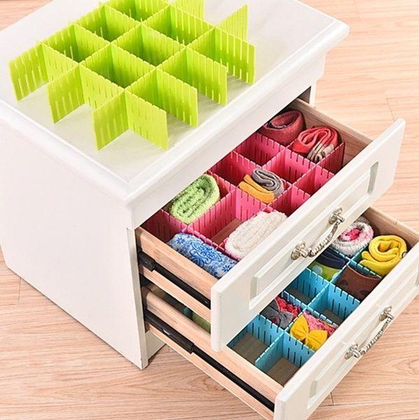 抽屜分隔板 (一包4入)可剪裁 整理 分類 分格 收納 多格 收納板 創意組合抽屜隔板【L22】MY COLOR