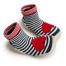 法國 Collegien 手工襪鞋 愛心條紋 (20-25)