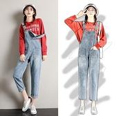 背帶褲女韓版寬鬆2020年新款時尚顯瘦減齡學生秋季小個子牛仔套裝 向日葵生活館