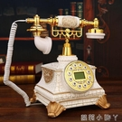 復古電話機高貴豪華裂紋金鑲鑚歐式電話機老式擺件座機仿古電話 NMS蘿莉小腳丫