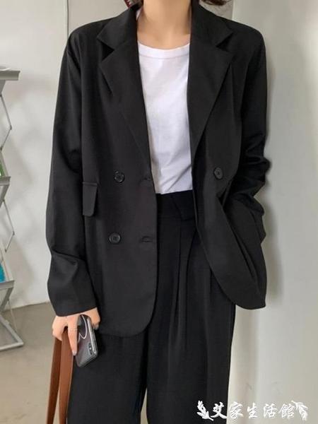 西裝外套 網紅西裝外套女英倫風秋季韓版黑色氣質短款設計感休閒西服春裝潮 【618 購物】