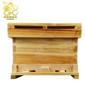 蜜蜂浸蠟標準杉木中蜂蜂箱煮蠟蜂箱平箱巢礎養蜂工具全套Mandyc