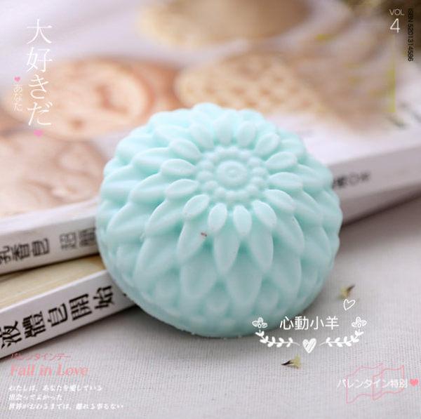 超美菊花6孔模|巧克力蛋糕烘培食品級矽膠模|專業手工皂模具