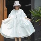 洋裝-進口高密舒適純棉寬鬆大襬/設計家 Q8495