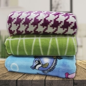 【Victoria】多用途雪貂保暖毯-3款任選海底世界