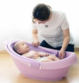 浴盆 兒童洗澡盆可坐躺多功能兒童浴盆兒童沐浴用品 莎拉嘿呦