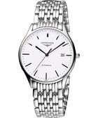 LONGINES 浪琴 Lyre 琴韻經典機械腕錶/手錶-白x銀/38mm L49604126