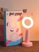 小夜燈 可愛LED臺燈護眼學習USB臥室床頭大學生少女心書桌宿舍寫字小夜燈 現貨快出