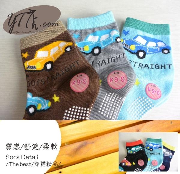 【YT店】(3~6歲)GO STRAIGHT小車子圖案襪子/短襪/止滑襪/童襪【台灣製MIT】A234