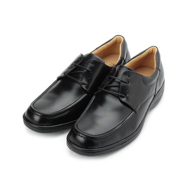 CHIC&F 真皮綁帶商務皮鞋 黑 5680 男鞋 鞋全家福