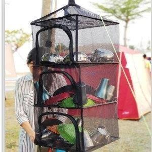 ♥巨安購物網♥【107022120】出口韓國 加厚乾燥網 收納曬碗籃子 [曬衣籃子]
