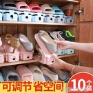 鞋子收納架神器透明20單個裝鞋盒塑料簡易盒子整理鞋櫃多層省空間