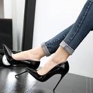16淺口偽娘大碼超高跟鞋細跟尖頭變裝情趣白領鞋OL空姐『洛小仙女鞋』YJT