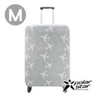 PolarStar 飛機印花行李箱套『M』(22-24吋) 1717034A-M 行李箱.登機箱.保護套.防護套.防塵套.防髒汙