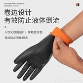 乳膠橡膠耐酸堿工業手套耐磨勞保工作加厚實驗室防滑防油防酸堿 全館新品85折