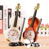 古典風優雅小提琴鬧鐘桌面/鬧鐘