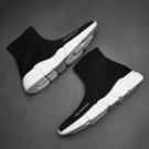 高筒鞋2020夏季新款網鞋網面男鞋透氣潮流百搭運動休閒潮鞋襪子高筒板鞋 貝芙莉