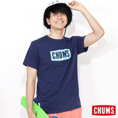 CHUMS 日本 男 Breezing 吸濕快排 LOGO短袖T恤 深藍 CH011030N001
