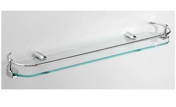 【麗室衛浴】強化噴砂玻璃置物架 ST護欄 G-644 60*12CM
