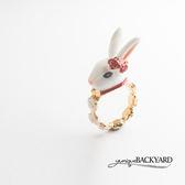 yunique Backyard 愛麗絲眼鏡兔子戒指