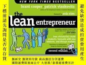 二手書博民逛書店The罕見Lean Entrepreneur: How Visionaries Create Products,