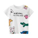卡通動物圖案短袖T恤上衣 童裝 T-shirt T恤