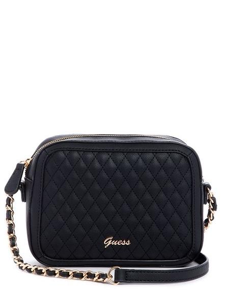 美國Guess 經典菱格紋設計 四方包 黑色鏈條斜肩包 最新上市~經典百搭款~限量價$1850現貨